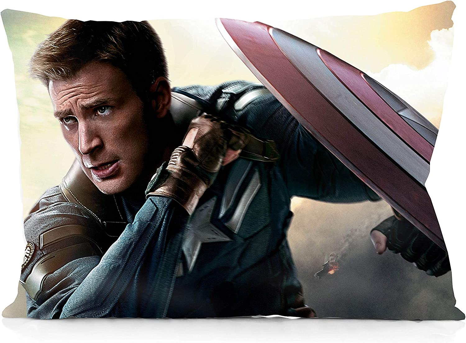 Bed Chris Evans Plush Pillow 23.6 Inch Soft Stuffed Plush Doll Portable Stress Relief Toy Same As Captain America Chris Evans Promote Sleep /& Increase Sense of Security for Sofa