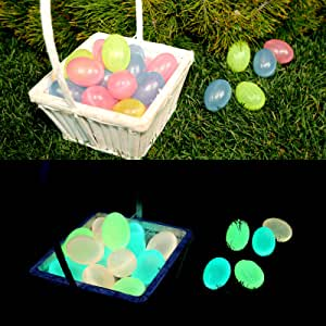 Light of Jesus [Glow in The Dark Easter Eggs] (12) - Give Your Kids an Amazing [Christian/ Religious] Easter Egg Hunt Game/ Toy - Make Easter Sunday Unforgettable