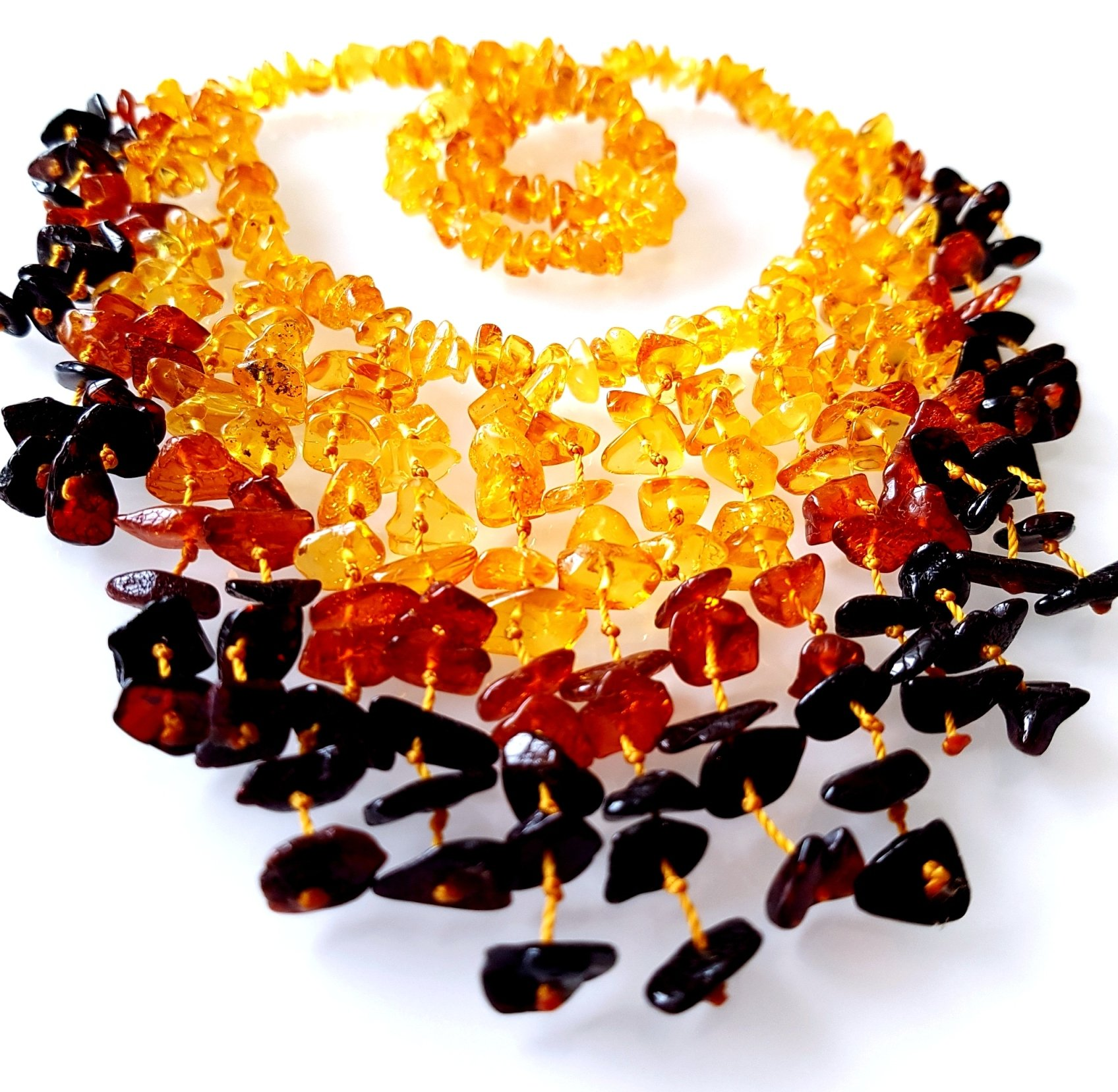 AMBERMILANA Natural Baltic Amber Necklace/Women/Healing Amber Necklace/Certified Genuine Baltic Amber