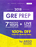 GRE Prep by Argo Brothers: Practice Tests + Online System + Videos, GRE Test Prep 2018