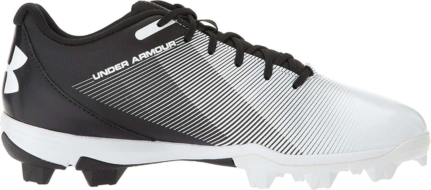 Crampons de baseball moul/és Under armour Lead off RM low 2018 RM Noir et blanc pour Homme Under Armour