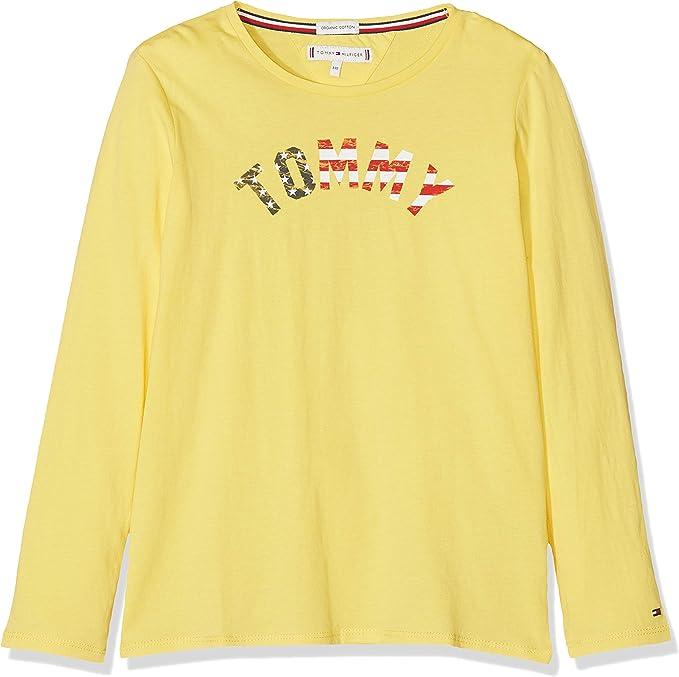 Tommy Hilfiger Essential Hilfiger tee L/S Camisa Manga Larga para Niñas: Amazon.es: Ropa y accesorios
