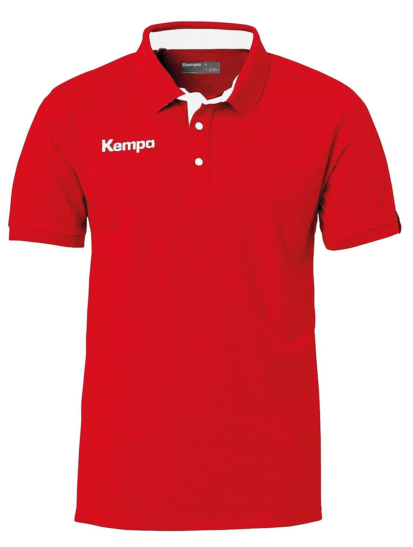 Kempa Prime Polo Shirt grau mélange/Schwarz 4XL 200215903