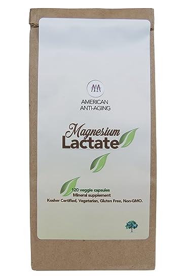 Amazon.com: Lactato de Magnesio 500 mg por porción, 120 ...