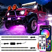 Exterior Led Car Lights, Underglow Car Lights with App and Remote Control, Music Sync, Multicolor and Scene Options…