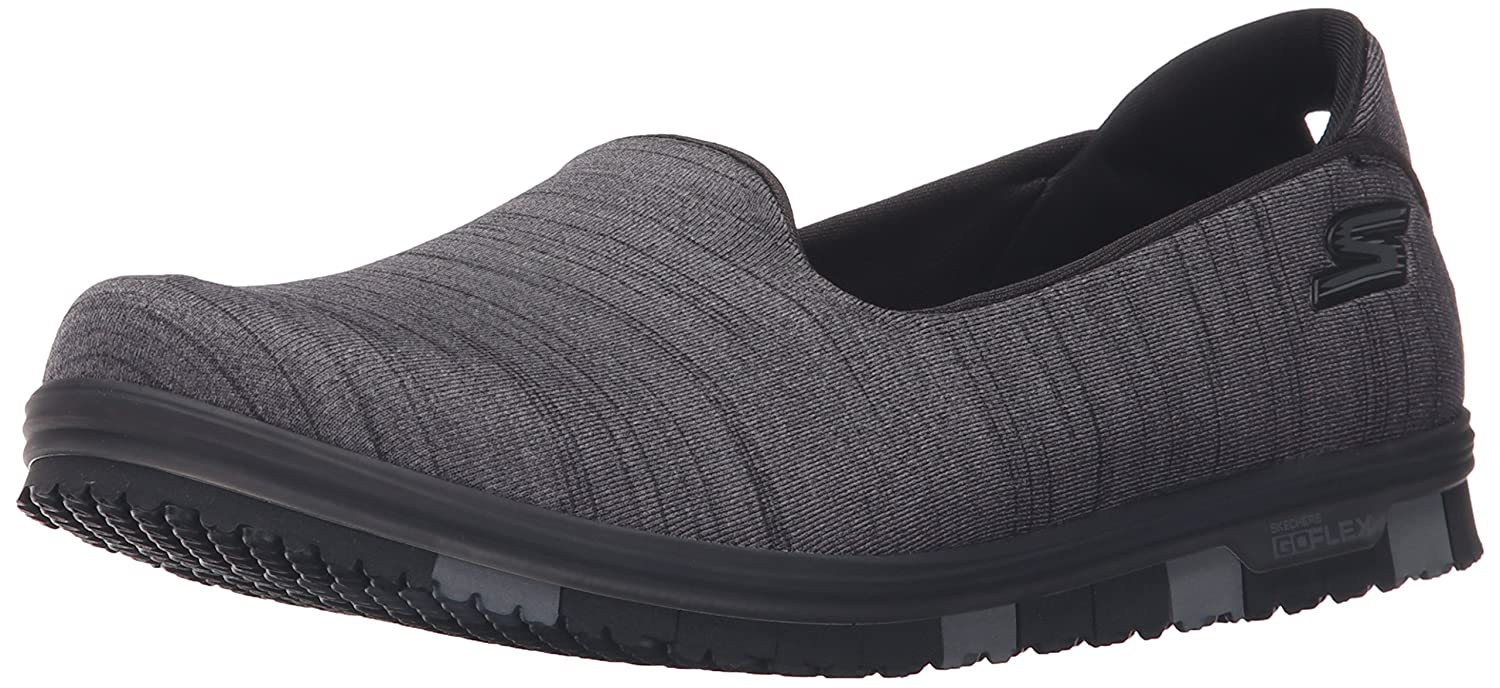 Skechers Damen Slipper Go Mini Flex Schwarz/Grau  39.5 EU