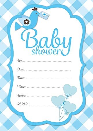Baby Shower Invitations Party Expectant Mums Baby Boy