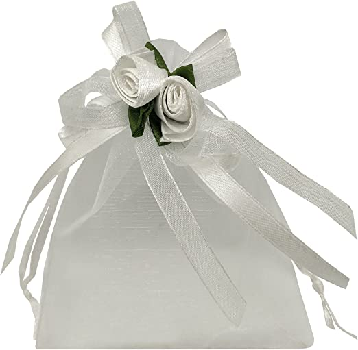 SATIN SILVER BAGS FOR JEWLRY 3x4 GIFT BAGS BOWS RIBBONS PARTY FAVORS PACKAGING
