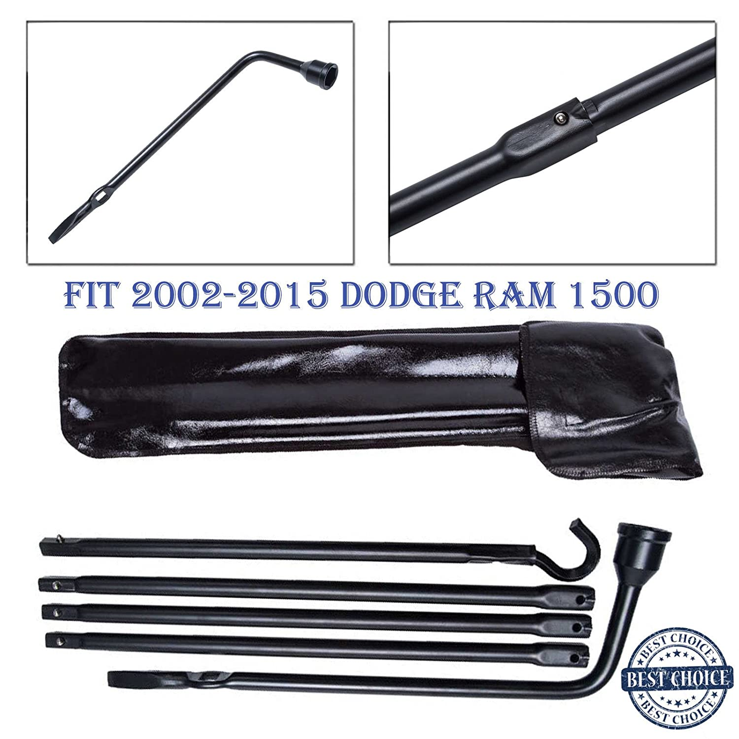 2017 New Spare Tire Kit Lug Wrench Tool Replacement fit 2002-2015 Dodge Ram 1500 with Bag - 2 Year Warranty Autobaba 4333085542