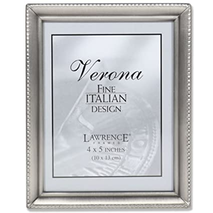 Amazon.com - Lawrence Frames Antique Pewter 4x5 Picture Frame - Bead ...