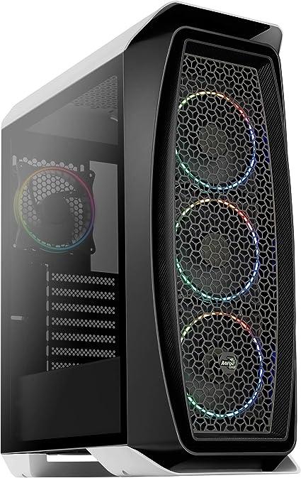 Aerocool AEROONEECLIPSE, caja PC ATX Blanca, 4 ventiladores 12cm ...