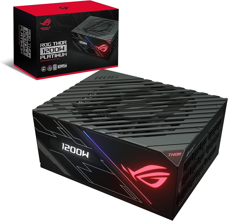 ROG Thor 1200P - Fuente de alimentación 1200 W Platinum con Aura Sync y Pantalla OLED