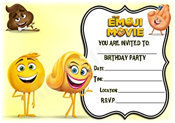 Image Unavailable Not Available For Colour The Emoji Movie Birthday Party