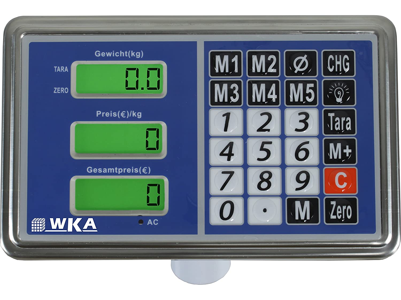 Plattformwaage WKA-UG100-4030 Max 100kg Teilung 20g Paketwaage Industriewaage