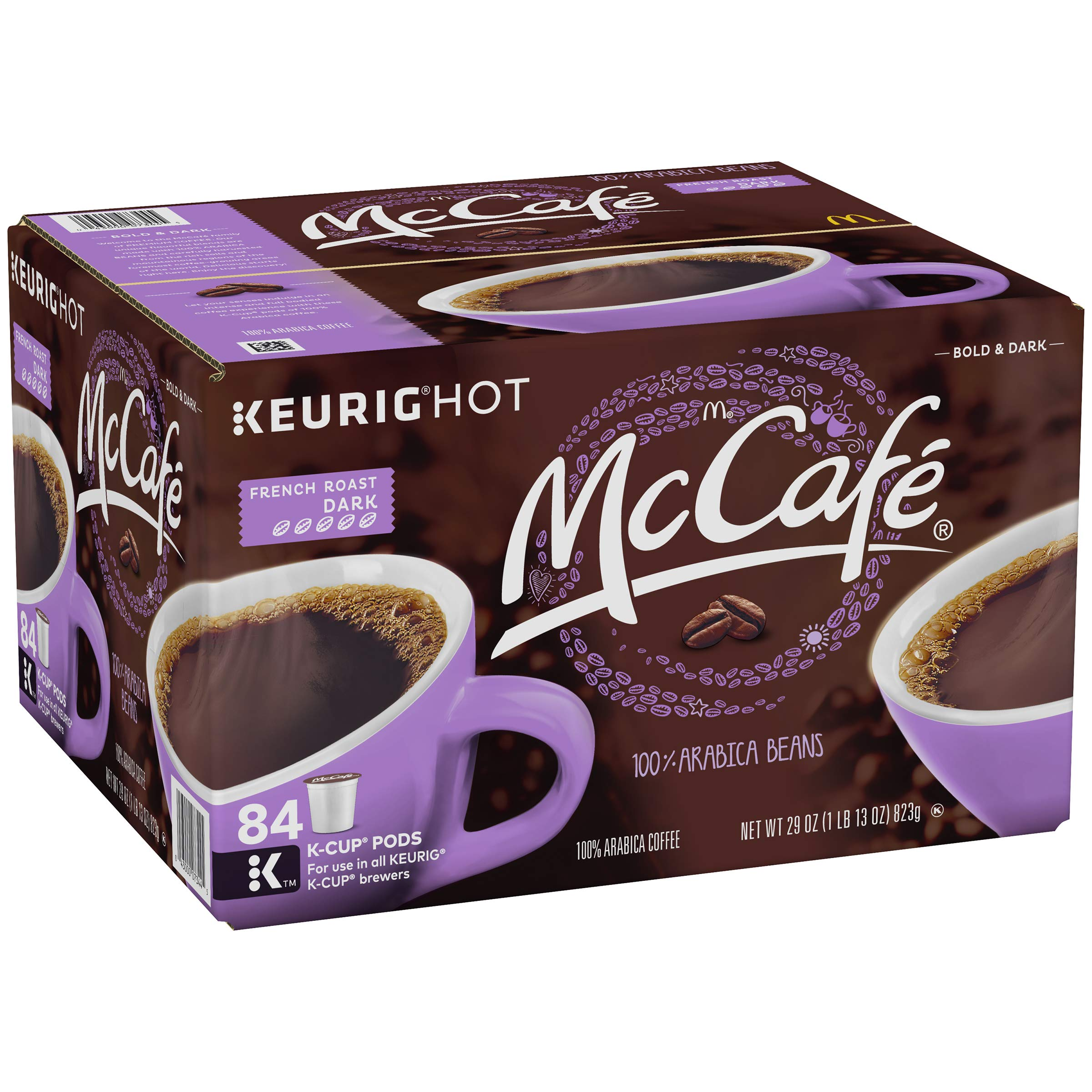 McCafe French Roast Dark K-Cup Coffee Pods, 84 Count