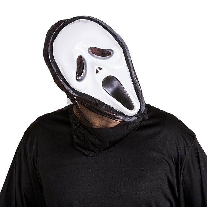 dressforfun Disfraz de la película Scream para hombre | Máscara de miedo | Vestimenta larga | Disfraz de cuerpo completo (L | no.
