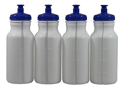 Amazon.com: Deportes Squeeze botellas de agua de plástico ...