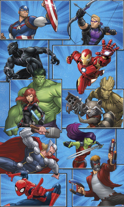 RoomMates Marvel Team Peel and Stick Muarl RMK3469PSM