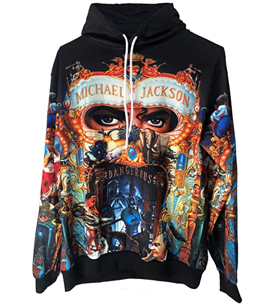 Amazon.com: Michael Jackson Hoodie Jacket Sweatshirt Dangerous 3D Germany HD Printed Costume: Clothing