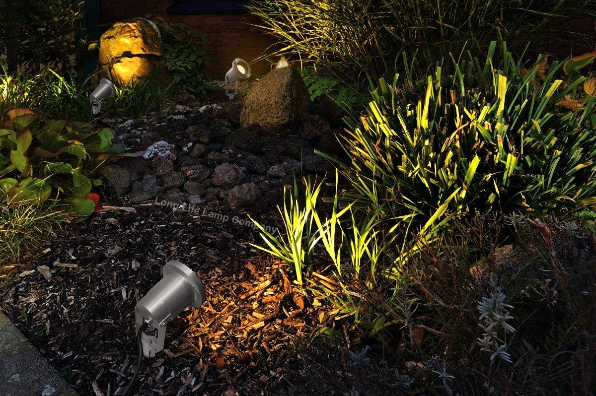 garden spike lights adjustable outdoor ground spotlight. Black Bedroom Furniture Sets. Home Design Ideas