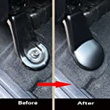 justautotrim 4P Anti-dust Seat bracket Fixing bolts Cover trims for 2014 2015 2016 2017 2018 TOYOTA Tundra