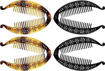 Fish Shaped 14cm Banana Clip Hair Grip Clamp Hair Accessory Black or Tort