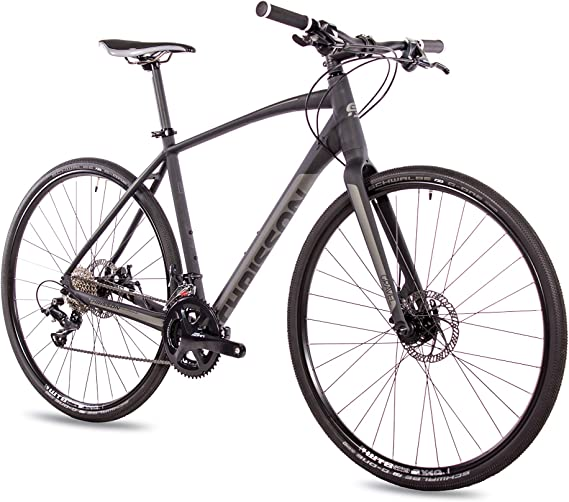 CHRISSON 28 aduanas Gravel Bike Urban Two negro mate, Urbanrad con ...