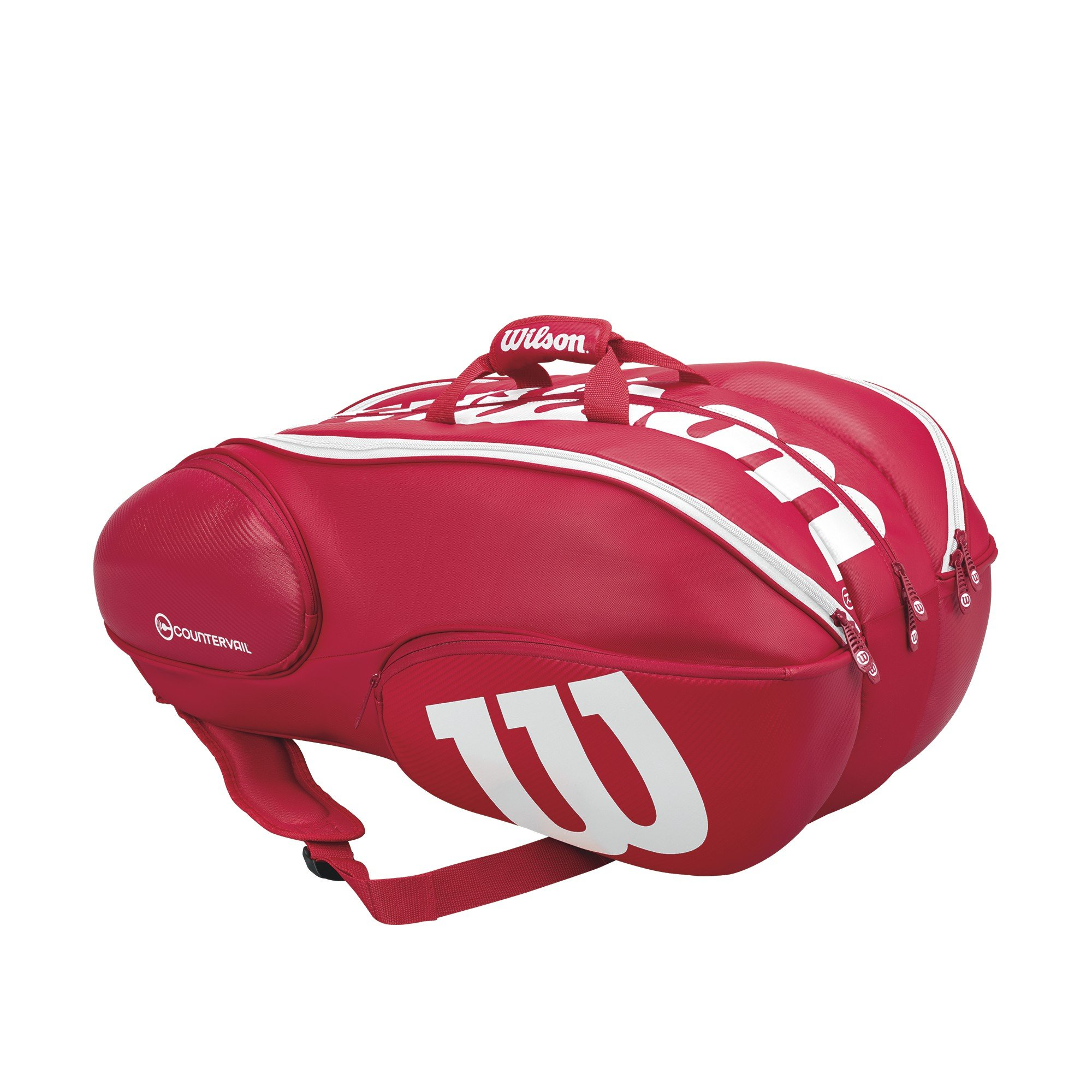 Vancouver Racket Bag, Pro Staff Collection - 15 Pack (Red/White)
