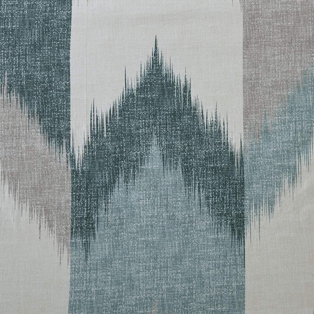 Ink+Ivy Cotton Printed Shower Curtain 72x72/Aqua