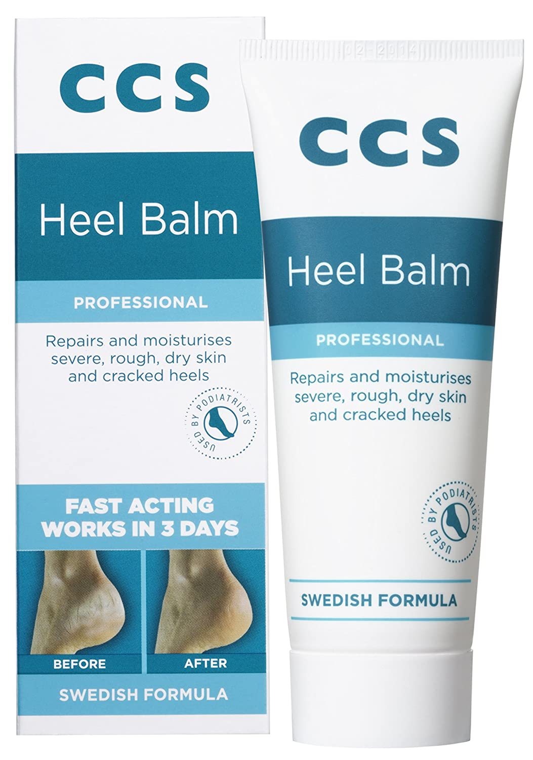 CCS Swedish Foot Heel Balm For Rough Dry And Cracked Heels - 75g 7315980167289