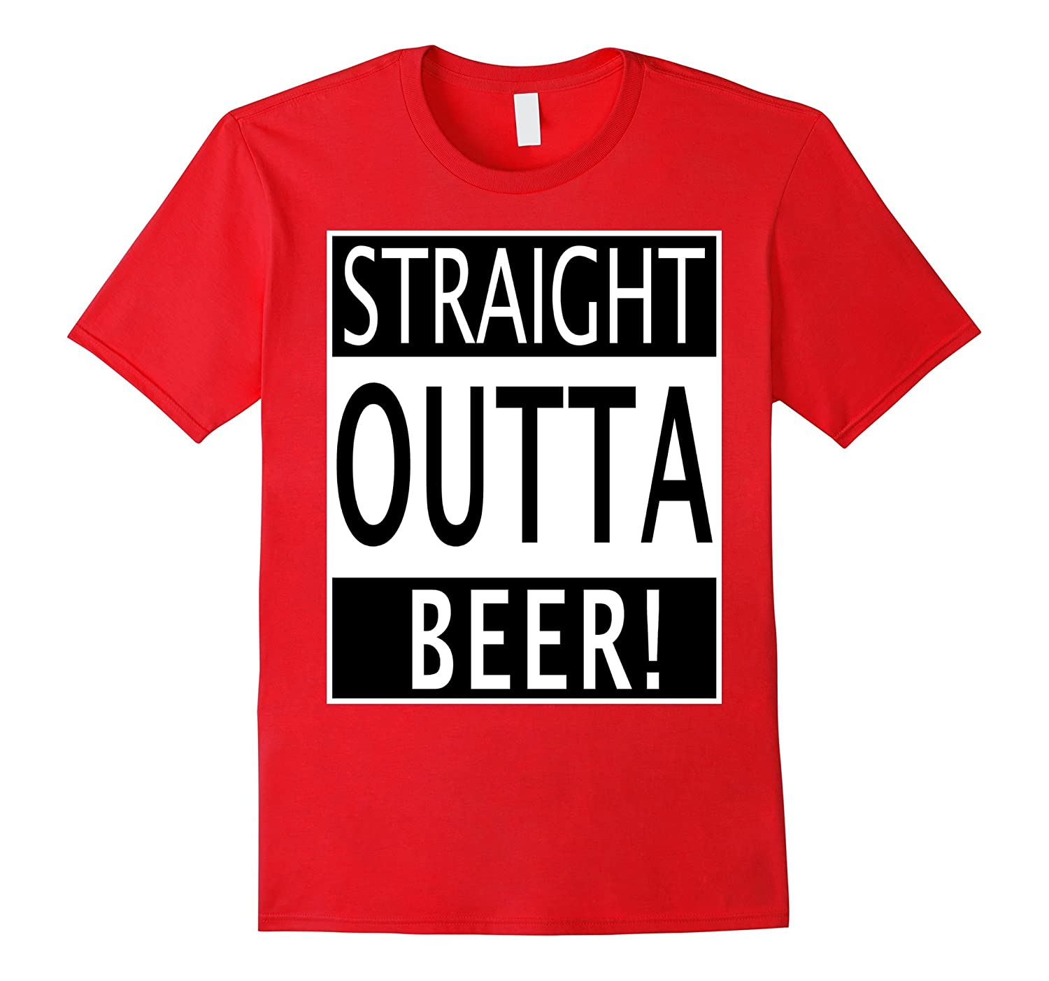 Straight Outta Beer Comedy Tee Shirt for Alcoholics, Hipster-FL