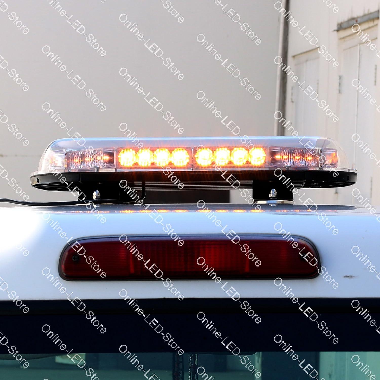 LAMPHUS SolarBlast 34W LED Construction Tow Truck Security Patrol Vehicle Strobe Warning Mini Light Bars AVAILABLE AMBER