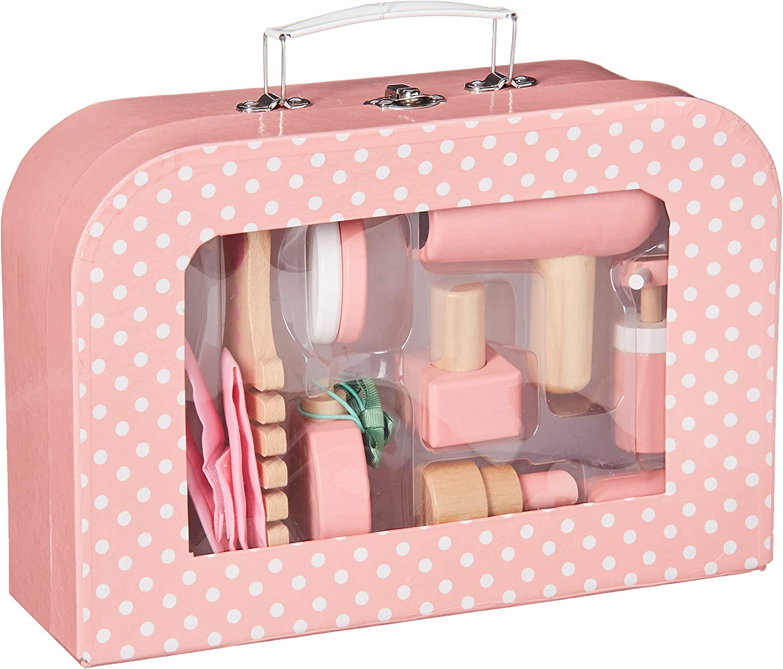 Bigjigs Toys Vanity Kit - Pretend Play Beauty Cosmetic Makeup Set, Multicolored