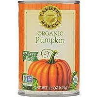12-Pack Farmers Market Organic Pumpkin, 15 Ounce