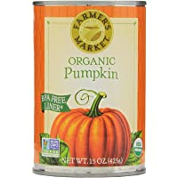 Farmer's Market Foods Canned Organic Pumpkin Puree, 15 Ounce (Pack of 12)