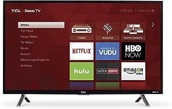 TCL 32s305 Pulgadas 720p televisor Smart LED (roku 2017 Modelo) (Certificado Reformado) + Soporte de Pared + 1 año de garantía CPS: Amazon.es: Electrónica