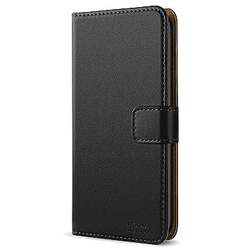 HOOMIL Funda LG G6, Cuero Premium Fundas para LG G6 Carcasa Case (H3171, Negro)