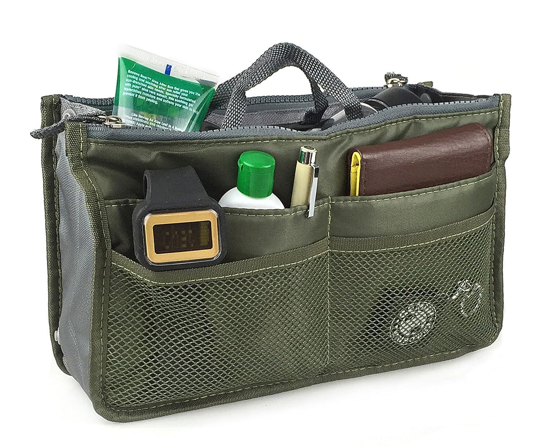 Hoxis Insert Organizer 13 Pockets Organizer Purse 10.6\' X 6.3\' Bag in Bag