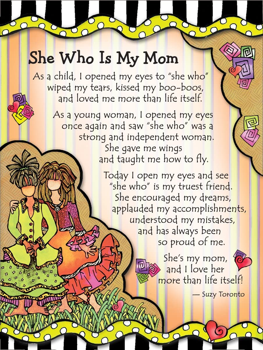 "Miniature Easel Print with Magnet: She Who is My Mom, 3.6"" x 4.9"""