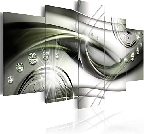 artgeist Handart Canvas Wall Art Abstract 225×112 cm / 88.58″x44.3″ 5 pcs Painting Canvas Prints Picture Artwork Image Framed Contemporary Modern Photo Wall Home a-A-0174-b-o
