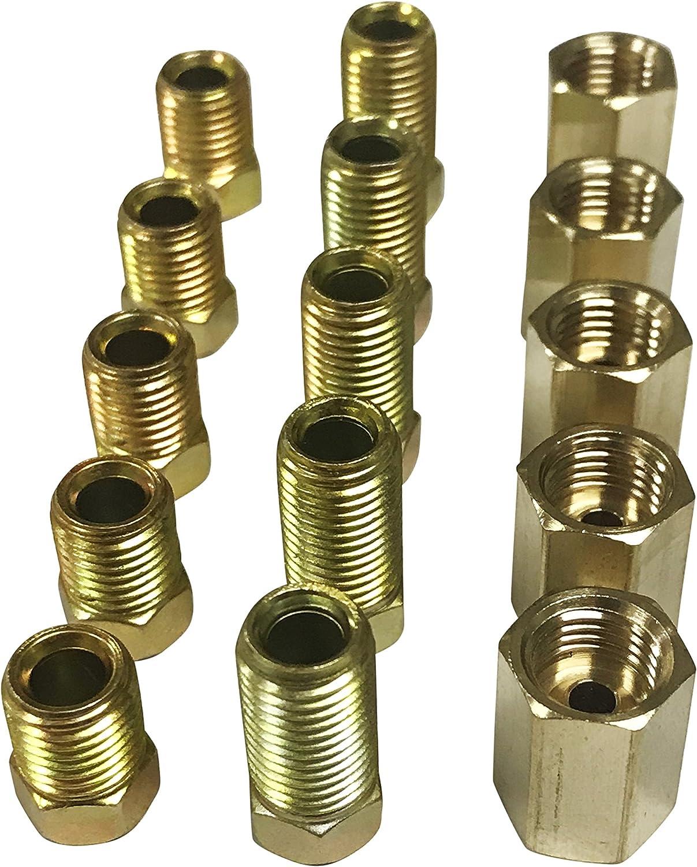 INVERTED DOUBLE FLARE-SAE BRAKE FITTINGS assortment for standard 3//16 brake line