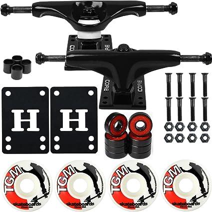 """Core Skateboard Trucks Package Black 7.75/"""" 56mm Pink Wheels//AMP5 Bearings"""