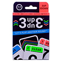 3UP 3DOWN Card Game   Best Fun Family Games for Kids, Teens, Adults   2-6 Players/Deck ● Up to 12 Players with 2 Decks ● Make Road Trips, Camping, Beach Time, Summer Camp, Family Time Exciting