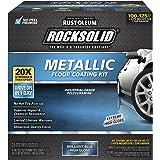 Rust-Oleum 299745 Rocksolid Metallic Garage Floor Coating, 80 fl oz, Brilliant Blue