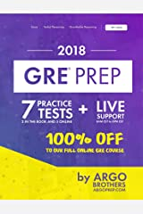 GRE Prep by Argo Brothers: Practice Tests + Online System + Videos, GRE Test Prep 2018 Kindle Edition
