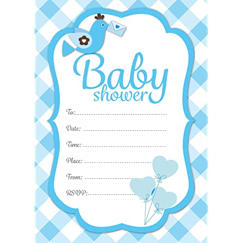 Baby shower invites boy amazon baby shower invitations party expectant mums baby boy filmwisefo