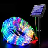 Bebrant Solar Rope Lights Solar Powered String Lights 40Ft 120 LEDs 8 Modes Outdoor Waterproof IP 65 Fairy Lights for Camping