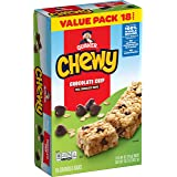 Quaker Chewy Granola Bar, Chocolate Chip,0.84 Ounce (Pack of 18)