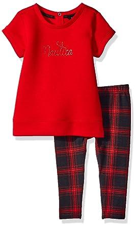 ec16ef37e2fc4 Amazon.com: Nautica Girls' Fashion Top with Legging Two Piece Set ...