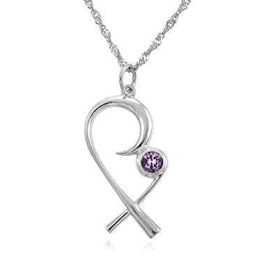 The Mommy Pendant - Silver Mother Child Necklace with (February) Birthstone Amethyst u2013 Designer  sc 1 st  Amazon.com & Amazon.com: The Mommy Pendant - Silver Mother Child Necklace with ...